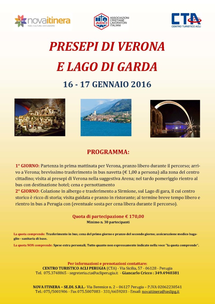 PRESEPI VERONA 16 - 17 01 2016