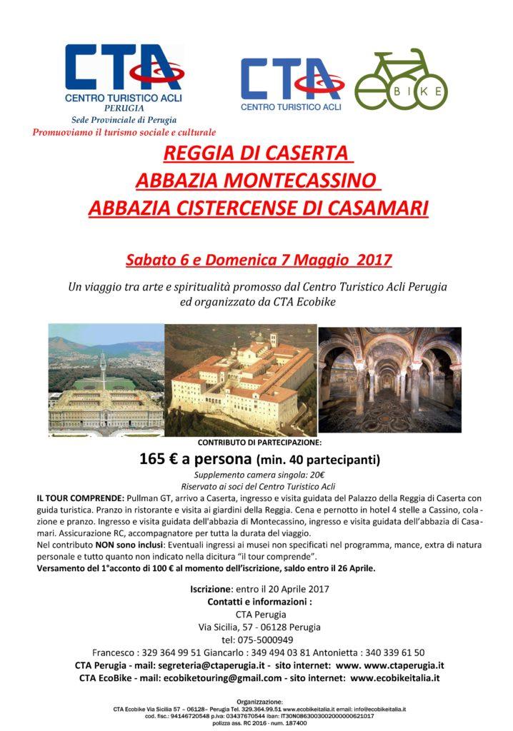 Viaggio a REGGIA DI CASERTA e ABBAZIA MONTECASSINO - maggio 2017